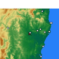 Nearby Forecast Locations - Casino - mapa