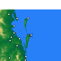 Nearby Forecast Locations - Southport - mapa