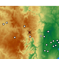 Nearby Forecast Locations - Mount Boyce - mapa