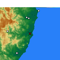 Nearby Forecast Locations - Port Macquarie - mapa