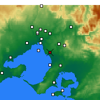 Nearby Forecast Locations - Moorabbin - mapa