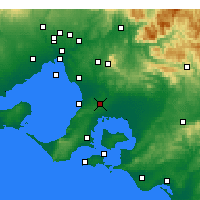 Nearby Forecast Locations - Cranbourne - mapa