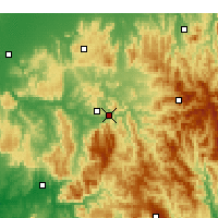 Nearby Forecast Locations - Eildon Dam - mapa