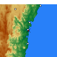 Nearby Forecast Locations - Moruya Heads - mapa