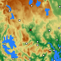 Nearby Forecast Locations - Ouse - mapa