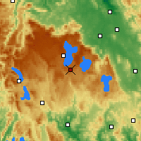 Nearby Forecast Locations - Butlers Gorge - mapa