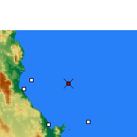 Nearby Forecast Locations - Norman Reef - mapa