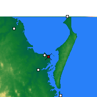 Nearby Forecast Locations - Hervey Bay, Lotnisko - mapa