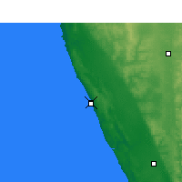 Nearby Forecast Locations - Lancelin - mapa