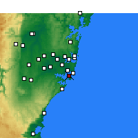 Nearby Forecast Locations - Kurnell - mapa