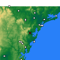 Nearby Forecast Locations - Middle Head - mapa