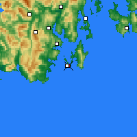 Nearby Forecast Locations - Cape Bruny - mapa