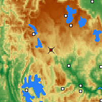 Nearby Forecast Locations - Tarraleah - mapa
