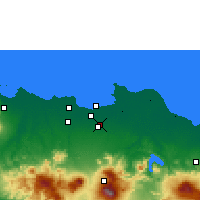 Nearby Forecast Locations - Dżakarta - mapa