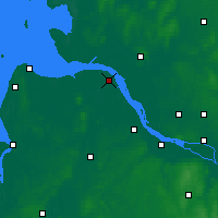 Nearby Forecast Locations - Fryburg nad Łabą - mapa