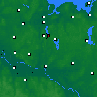 Nearby Forecast Locations - Ratzeburg - mapa
