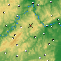 Nearby Forecast Locations - Simmern - mapa