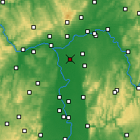 Nearby Forecast Locations - Groß-Gerau - mapa