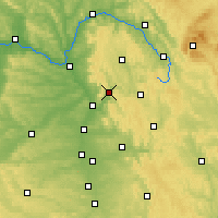 Nearby Forecast Locations - Ebermannstadt - mapa