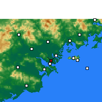 Nearby Forecast Locations - Shantou Port lotniczy - mapa