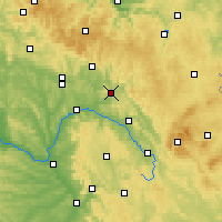 Nearby Forecast Locations - Kronach - mapa