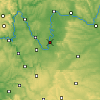 Nearby Forecast Locations - Kitzingen - mapa