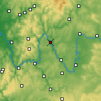 Nearby Forecast Locations - Karlstadt - mapa