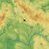 Nearby Forecast Locations - Hildburghausen - mapa
