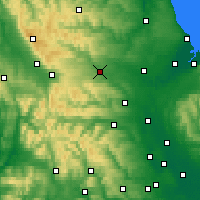 Nearby Forecast Locations - Barnard Castle - mapa