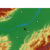 Nearby Forecast Locations - Jorhat - mapa