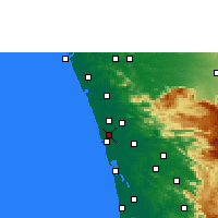 Nearby Forecast Locations - Kodungallur - mapa