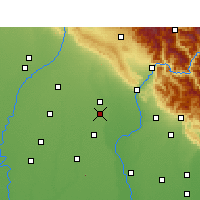 Nearby Forecast Locations - Manglaur - mapa