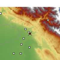 Nearby Forecast Locations - Pathankot - mapa