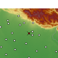 Nearby Forecast Locations - Rudrapur - mapa