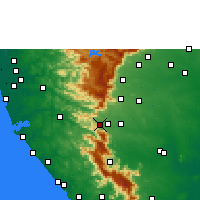 Nearby Forecast Locations - Sengottai - mapa