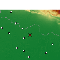 Nearby Forecast Locations - Sitamarhi - mapa