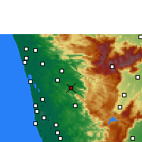 Nearby Forecast Locations - Thodupuzha - mapa