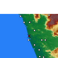Nearby Forecast Locations - Tirur - mapa