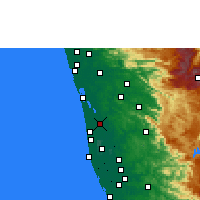 Nearby Forecast Locations - Vaikom - mapa