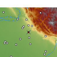 Nearby Forecast Locations - Zirakpur - mapa