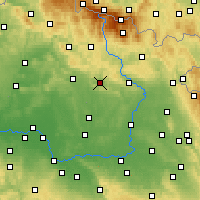 Nearby Forecast Locations - Lázně Bělohrad - mapa