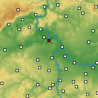 Nearby Forecast Locations - Roudnice nad Labem - mapa