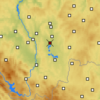 Nearby Forecast Locations - Veselí nad Lužnicí - mapa