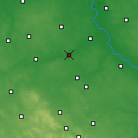 Nearby Forecast Locations - Białobrzegi - mapa