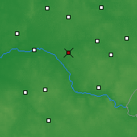 Nearby Forecast Locations - Ciechanowiec - mapa