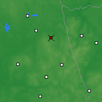 Nearby Forecast Locations - Dąbrowa Białostocka - mapa