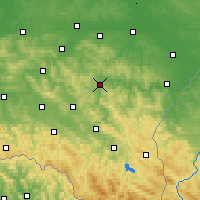 Nearby Forecast Locations - Dynów - mapa