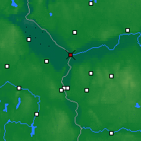 Nearby Forecast Locations - Kostrzyn nad Odrą - mapa