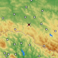 Nearby Forecast Locations - Rymanów - mapa