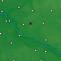 Nearby Forecast Locations - Skępe - mapa